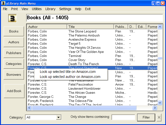 BookDB screenshot