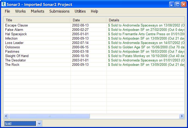Click to view Sonar3 3.0.2.4 screenshot