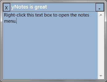 yNotes full screenshot