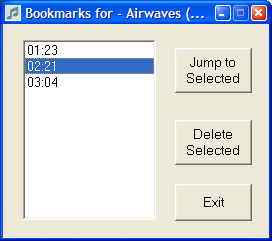yPlay bookmarks screen